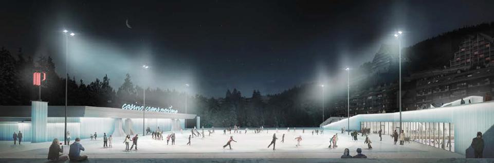 Patinoire du tout nouveau centre de glace Ycoor.